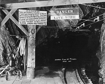 Alaska Juneau Gold Mining Company Tunnel Photo Print