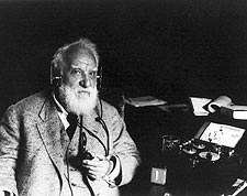 Alexander Graham Bell with Radiophone Headset 1922 Photo Print for Sale