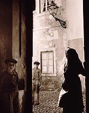 Elderly Woman and Children in Lisbon, Portugal 1940s Photo Print for Sale