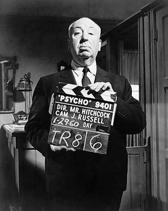 Alfred Hitchcock Portrait Psycho Movie Set Photo Print