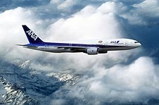 All Nippon Airways Boeing 777-200 in Flight Photo Print for Sale