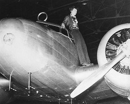 Amelia Earhart and Lockheed Electra Photo Print