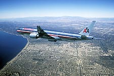 American Airlines Boeing 777-200 in Flight Photo Print for Sale