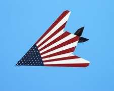 American Flag F-117 Stealth Fighter Photo Print