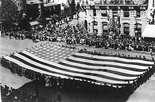 American Flag G.A.R. Parade Washington D.C. Photo Print for Sale