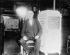 American Inventor Thomas Edison With Phonograph Photo Print for Sale