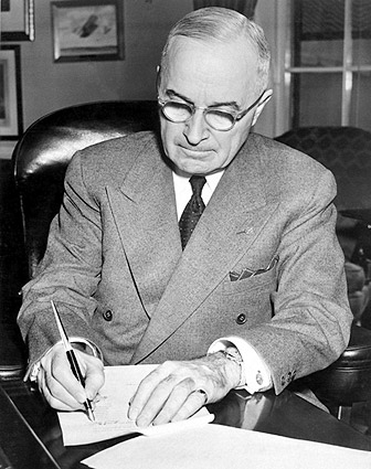 American President Harry Truman Portrait Photo Print