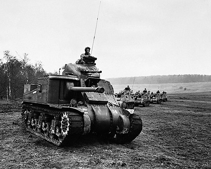 American Tanks in England WWII 1942 Photo Print