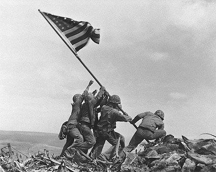 Americans Raising the Flag on Iwo Jima WWII Photo Print