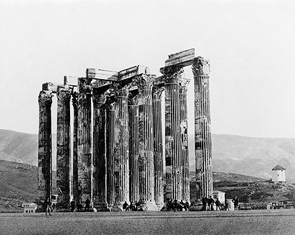 Ancient Greek Temple of Olympian Zeus Greece Photo Print