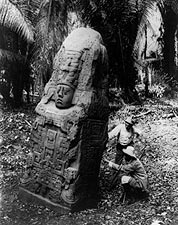 Ancient Mayan Monument in Quirigu�, Guatemala Photo Print for Sale