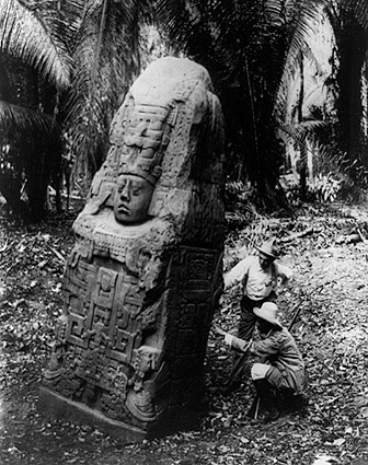 Ancient Mayan Monument in Quiriguá, Guatemala Photo Print