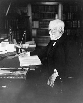 Andrew Carnegie at Desk Portrait Photo Print