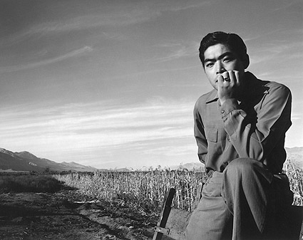 Ansel Adams Manzanar Japanese Portrait WWII Photo Print