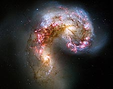 Antennae Galaxies Hubble Space Telescope Photo Print for Sale