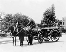 Antique Fire Engine w/ Royal Hose & Nozzle in Pennsylvania Photo Print for Sale