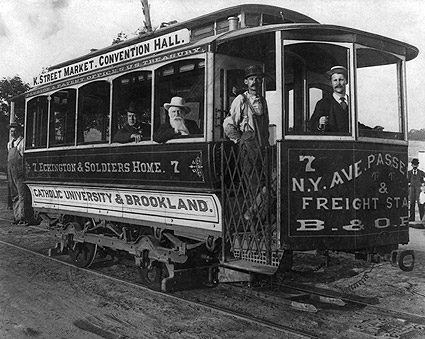 Antique Streetcar Trolley, Washington, D.C. Photo Print