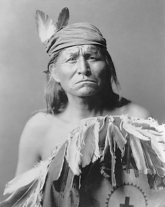 Apache Indian Man Edward S. Curtis 1903 Photo Print