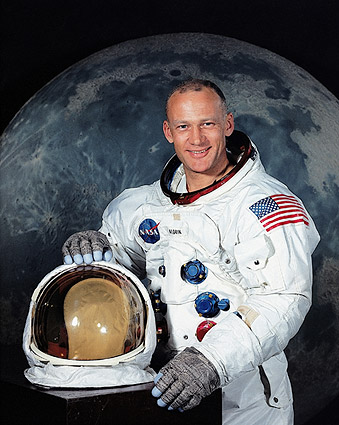 Apollo 11 Astronaut Buzz Aldrin Portrait Photo Print
