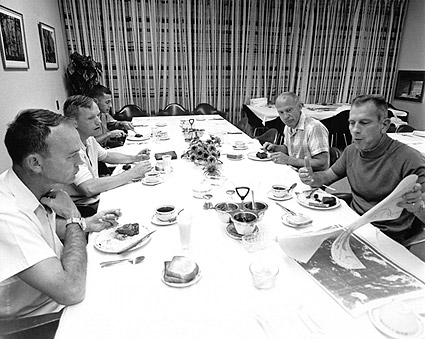 Apollo 11 Astronauts Pre-Launch Breakfast Photo Print