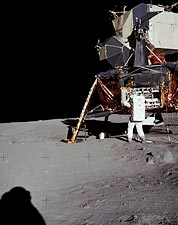 Apollo 11 Buzz Aldrin and Lunar Lander Photo Print for Sale