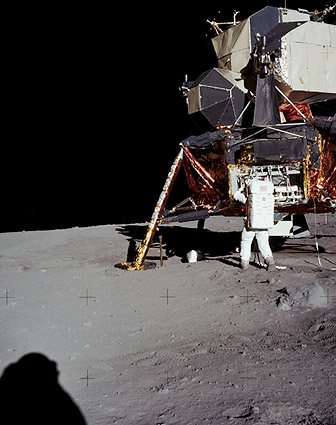 Apollo 11 Buzz Aldrin and Lunar Lander Photo Print