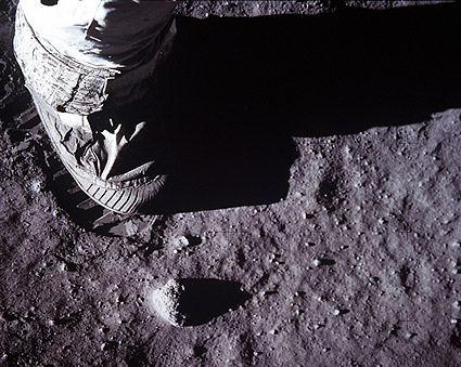 Apollo 11 Buzz Aldrin Boot on Moon Photo Print