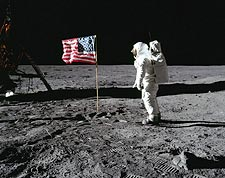 Apollo 11 Buzz Aldrin Flag Lunar Surface Photo Print for Sale