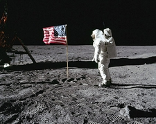 Apollo 11 Buzz Aldrin Flag Lunar Surface Photo Print