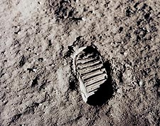 Apollo 11 Buzz Aldrin Footprint Moon Photo Print for Sale