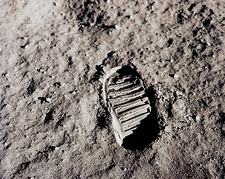 Apollo 11 Buzz Aldrin Footprint Moon Photo Print