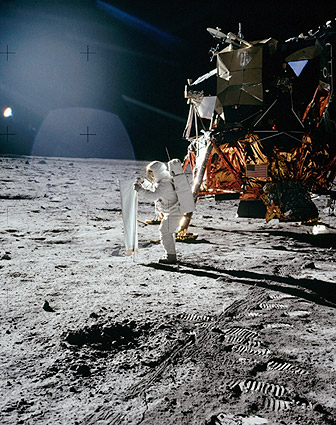 Apollo 11 Buzz Aldrin Lunar Experiment Photo Print
