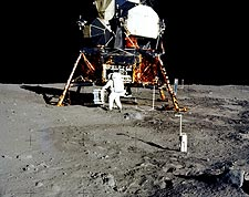 Apollo 11 Buzz Aldrin & Lunar Module Photo Print for Sale