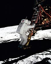 Apollo 11 Buzz Aldrin on Lunar Surface Photo Print for Sale