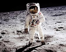 Apollo 11 Buzz Aldrin on the Moon Photo Print for Sale