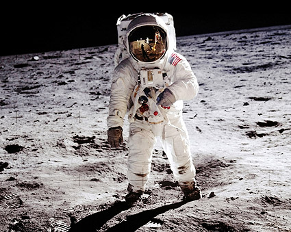Apollo 11 Buzz Aldrin on the Moon Photo Print
