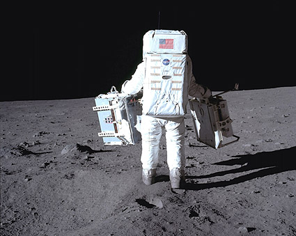 Apollo 11 Buzz Aldrin Working on Moon Photo Print