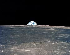 Apollo 11 Earth Rise Over Moon Horizon Photo Print for Sale