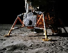 Apollo 11 Lunar Module on Moon NASA Photo Print for Sale