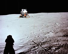 Apollo 11 Lunar Module on Moon Photo Print for Sale