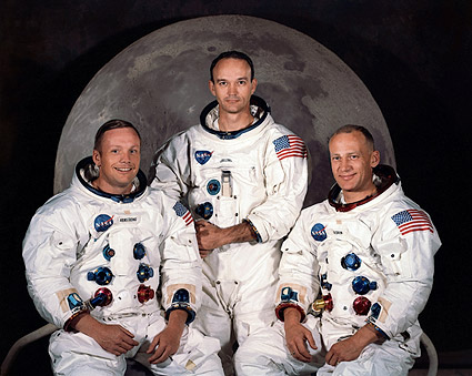 Apollo 11 Moon Landing Crew Photo Print