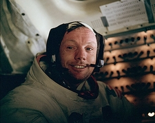 Apollo 11 Neil Armstrong and Lunar Module Photo Print
