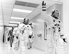 Apollo 11 Neil Armstrong & Crew Suited Up Photo Print for Sale