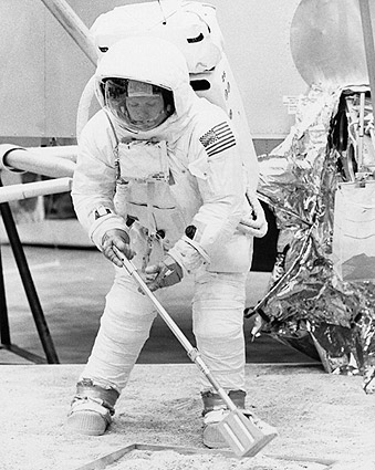 Apollo 11 Neil Armstrong in Training Photo Print