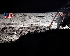 Apollo 11 Neil Armstrong on the Moon Photo Print