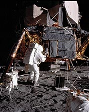 Apollo 12 Alan Bean Lunar Experiments Photo Print for Sale
