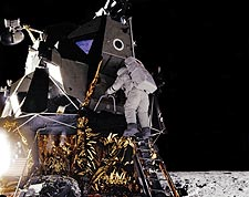 Apollo 12 Alan Bean on Lunar Module Photo Print for Sale