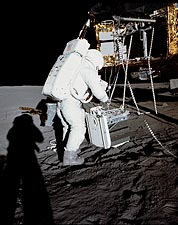 Apollo 12 Alan Bean on Lunar Surface Photo Print for Sale