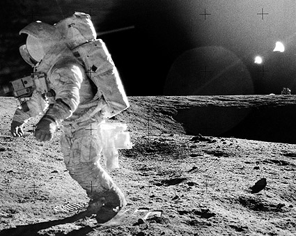 Apollo 12 Alan Bean on Moon Photo Print
