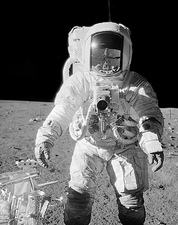 Apollo 12 Alan Bean on Moon w/ Tools Photo Print